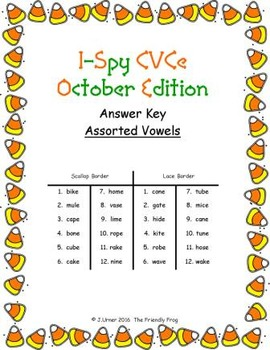 I-Spy CVCe Match-Up - Assorted Vowels (October Edition)