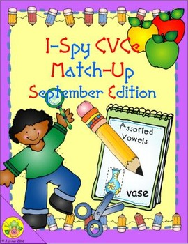 I-Spy CVCe Match-Up - Assorted Vowels (September Edition)