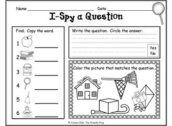 I-Spy CVCe Questions - Assorted Vowels (September Edition)