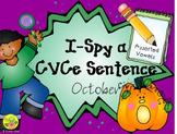 I-Spy CVCe Sentence Building - Assorted Vowels (October Edition)