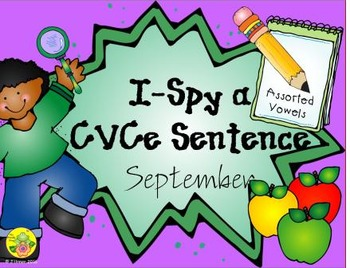 I-Spy CVCe Sentences - Assorted Vowels (September Edition)