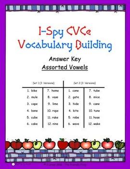 I-Spy CVCe Vocabulary Building - Variable Vowel Words
