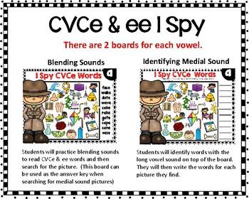 I Spy CVCe & ee Words