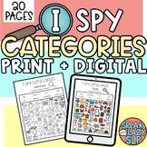 I Spy Categories - Interactive PDF