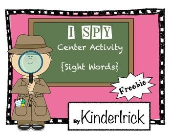 I Spy Center Activity {Sight Word Freebie}