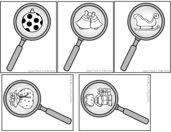I Spy Christmas - Mixed Groups (Language Processing & Phonological Awareness)