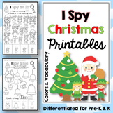 Christmas Coloring Pages: I Spy