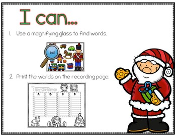 I Spy Christmas Words