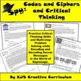 I Spy:  Codes and Ciphers and Critical Thinking