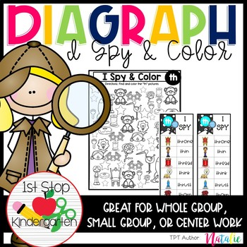 I Spy & Color Diagraphs (Ch, Sh, Th, Wh)