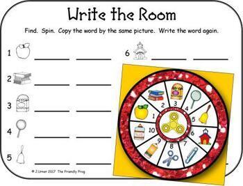 I-Spy Color Words Fidget Spinner Fun (September Edition)