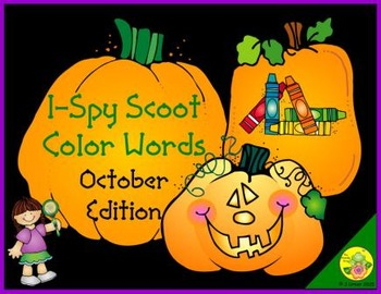I-Spy Color Words Scoot (October Edition)