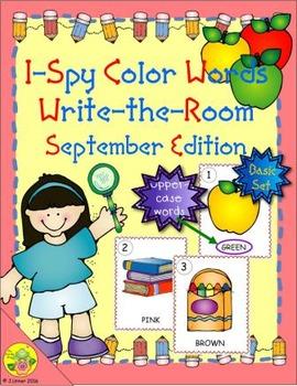 I-Spy Color Words Word Work (September Edition) Basic