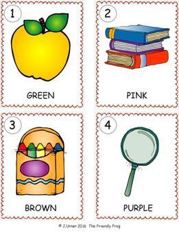 I-Spy Color Words Write-the-Room Fun Bundle (September Edition)