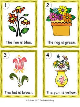I-Spy Colorful CVC Words - Short /a/ Assorted Words (April Edition)