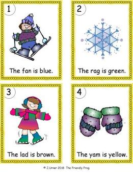 I-Spy Colorful CVC Words - Short /a/ Assorted Words (January Edition)
