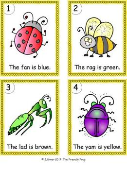 I-Spy Colorful CVC Words - Short /a/ Assorted Words (May Edition)