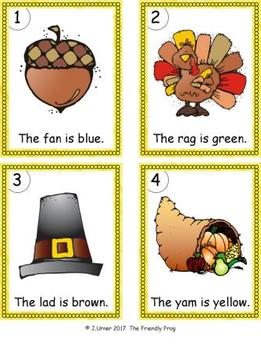 I-Spy Colorful CVC Words - Short /a/ Assorted Words (November Edition)