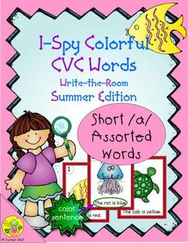 I-Spy Colorful CVC Words - Short /a/ Assorted Words (Summer Edition)