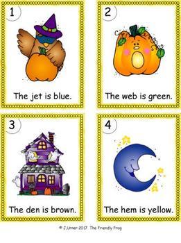 I-Spy Colorful CVC Words - Short /e/ Assorted Words (October Edition)