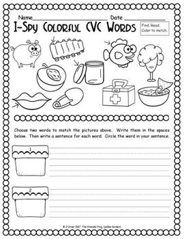 I-Spy Colorful CVC Words - Short /i/ Assorted Words (April Edition)