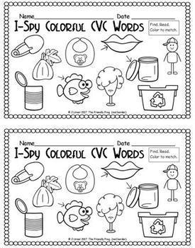 I-Spy Colorful CVC Words - Short /i/ Assorted Words (December Edition)