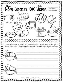 I-Spy Colorful CVC Words - Short /i/ Assorted Words (May Edition)