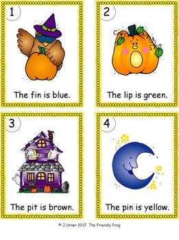 I-Spy Colorful CVC Words - Short /i/ Assorted Words (October Edition)