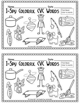 I-Spy Colorful CVC Words - Short /o/ Assorted Words (December Edition)
