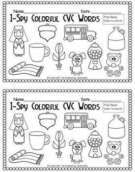 I-Spy Colorful CVC Words - Short /u/ Assorted Words (April Edition)