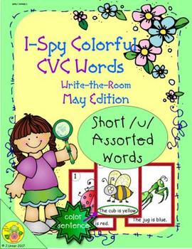 I-Spy Colorful CVC Words - Short /u/ Assorted Words (May Edition)