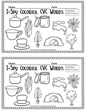 I-Spy Colorful CVC Words - Variable Vowel Words (October Edition)