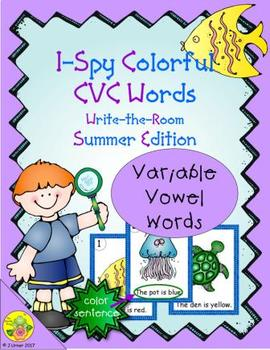 I-Spy Colorful CVC Words - Variable Vowels Words (Summer Edition)