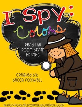 I Spy: Colors {Read the Room Brain Breaks}