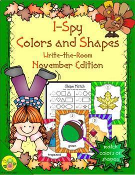 I-Spy Colors and Shapes (November Edition)