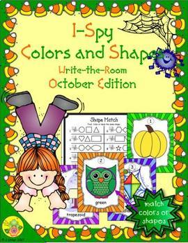 I-Spy Colors and Shapes (October Edition)