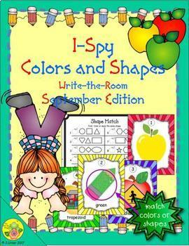 I-Spy Colors and Shapes (September Edition)