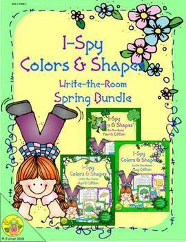 I-Spy Colors and Shapes Spring Bundle