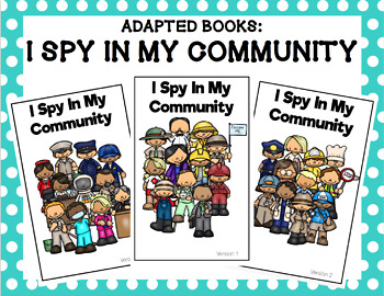 I Spy Community Helpers Adapted Book Bundle