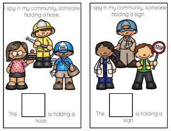 I Spy Community Helpers Adapted Book Bundle