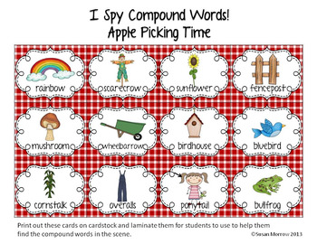 Compound Words Fun: I Spy Compound Words!
