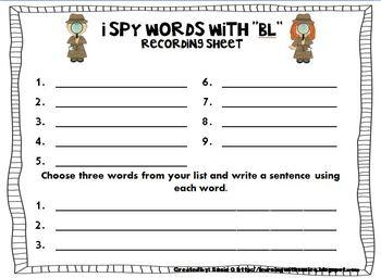I Spy Consonant Blends, Part 1