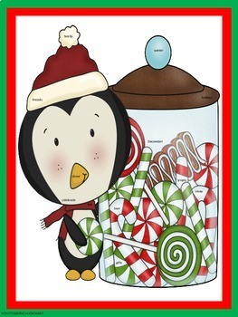 """""""I Spy"""" December (Holiday Words, Sight Words, -ing Words"""