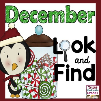 Look and Find December (Holiday Words, Sight Words, -ing Words