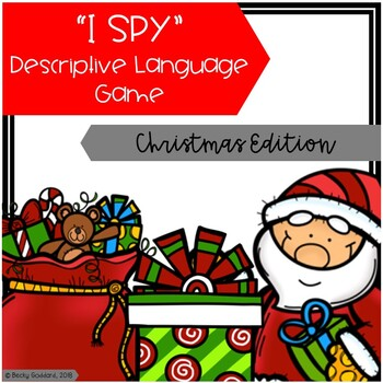 """I Spy"" Descriptive Language Game - Christmas Edition"