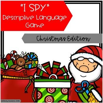 """""""I Spy"""" Descriptive Language Game - Christmas Edition"""