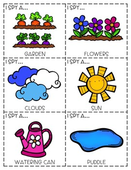 """I Spy"" Descriptive Language Game - Spring Edition"