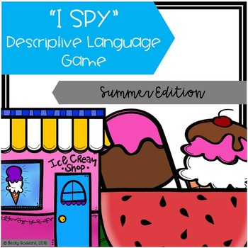 """I Spy"" Descriptive Language Game - Summer Edition"
