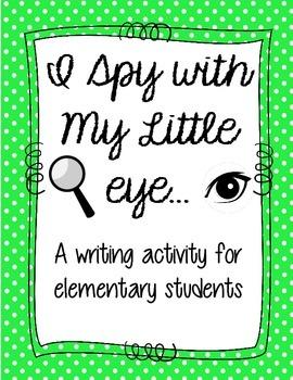 I Spy Descriptive Writing Activity