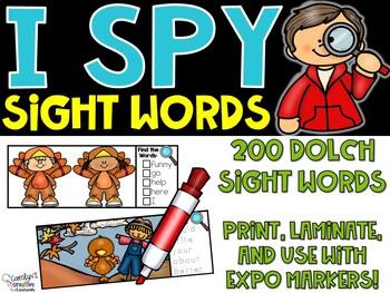 I Spy Dolch Sight Words - November Edition [Turkeys]